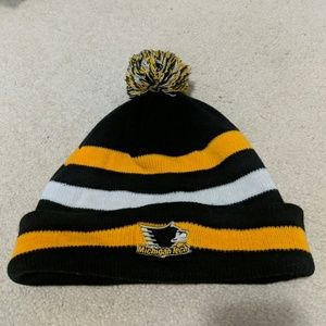 Accessories - Michigan Tech cozy winter hat pom pom